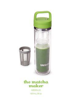 Make matcha on the go with this easy shake-and-sip matcha shaker called the DAVIDsTEA Matcha Maker!
