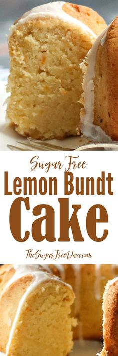 Sugar Free Lemon Bundt Cake #sugarfree #cake #holidays #dessert #homemade #birthday