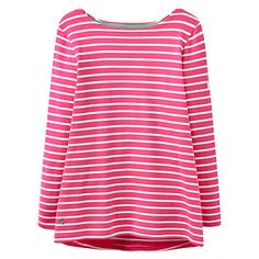 Buy Joules Harbour Stripe Top, Neon Candy Stripe Online at johnlewis.com