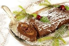 Christmas log cake Royalty Free Stock Photo Christmas Log Cake, Chocolate Photos, Tiramisu, Ale, Ethnic Recipes, Royalty, Food, Xmas, Royals