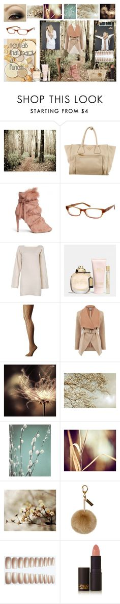 """Neutrals that pack a punch!"" by emily-dickson-1 ❤ liked on Polyvore featuring WALL, Prada, Gianvito Rossi, Banana Republic, See by Chloé, Coach, Wolford, Oasis, Helen Moore and Lipstick Queen"