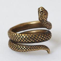 Snake ring, Snake jewelry, Snake rings, Snakes, Size 5,5 ring, Brass ring, Metal ring, Brass jewelry