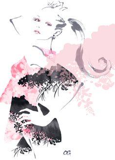 Takeshi Ohgushi. Fashion illustration on Artluxe Designs. #artluxedesigns