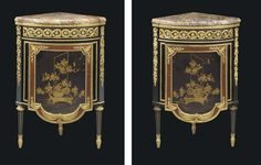 A PAIR OF LOUIS XVI ORMOLU-MOUNTED EBONY AND JAPANESE LACQUE