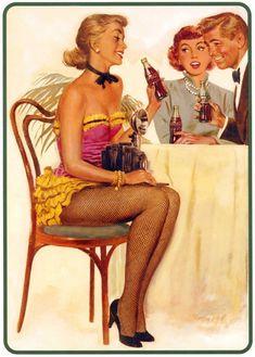 vintage hambuger ads | Anúncios vintage da Coca-Cola - Blog Idéias! Garantia de diversão ...