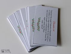Advent Calendar Scripture Cards by Just a Girl and Her Blog