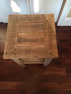 rustic yet sturdy pallet side table and nightstand