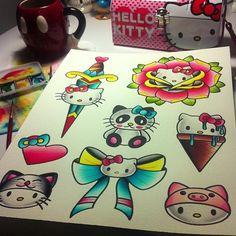 Hello Kitty Tattoo Flash
