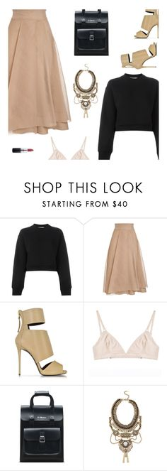 """""""fridays will always be better than sundays"""" by uncharged-batteries ❤ liked on Polyvore featuring T By Alexander Wang, Giuseppe Zanotti, The Nude Label, Dr. Martens, ALDO and MAC Cosmetics"""