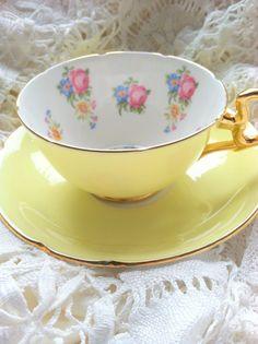 Vintage Signed Royal Grafton Bone China Teacup by MariasFarmhouse, $50.00