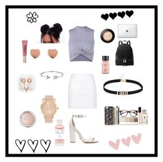 """Cute and comfy"" by enchantedgirl44220 ❤ liked on Polyvore featuring Topshop, Schutz, MICHAEL Michael Kors, Bling Jewelry, Ted Baker, Too Faced Cosmetics, Perricone MD and claire's"