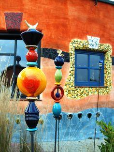 Hundertwasser architecture, Weingut detail
