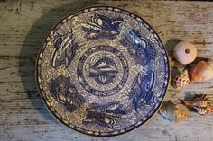 Mottahedeh Torquay Blue Dinner Plate with Gold Trim a Winterthur Reproduction of 1820 Transfer-Printed Earthenware Staffordshire England by CottageBlu on Etsy
