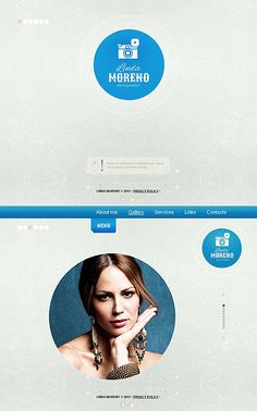 Template 46497 -  Photo Gallery Portfolio Template with Circular Design Elements