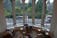 Waterstone's bookstore in Princes Street, Edinburgh. Best cafe view ever. Shame about the Starbucks coffee, though.