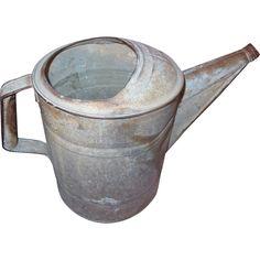 Vintage Galvanized Garden Water Can