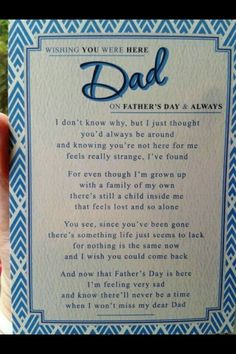 Even though it's not father's day, this is a perfect saying for my dad