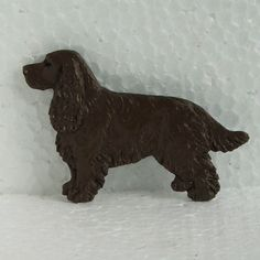 Field Spaniel Liver Brooch Dog Breed Jewellery Handpainted Handcrafted Resin