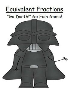 """Fern Smith's Star Wars Equivalent Fractions Go Fish Game """"Go Darth!"""" $0 3.NF.3a, 3.NF.3b & 4.NF.1"""