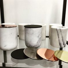 This stylish marble multi-purpose vessel or votive can be used in the kitchen, bathroom or study for holding anything from, pens, toothbrushes, or utensils. Marble Room Decor, Interior Styling, Interior Design, Study Ideas, Dream Bedroom, Lamp Design, Soft Furnishings, White Marble, Ceramic Art