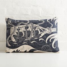 Ship in a Battle Cushion by Cameron Short | The New Craftsmen | Luxury Handmade Craft