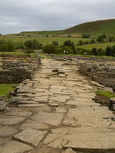 "Roman fort at Vindolanda. This is the main road through the ""village"" just outside the fortified walls. Ancient Egyptian Art, Ancient Ruins, Ancient Rome, Ancient Greece, Ancient History, Ancient Artifacts, Roman History, European History, American History"