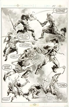 Savage Sword of Conan #88 page 37 by John Buscema and Rudy Nebres Comic Art