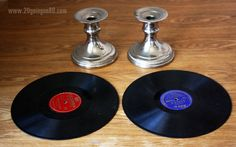 20 Going On 80: Diy Cupcake Stand: Using Old Records!