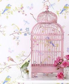 19 ideas geniales para decorar jaulas de pájaros - A gusto en casa Pretty In Pink, Pink Love, Pip Studio, Motifs Animal, Ideas Geniales, Pink Bird, Bird Cages, Pink Accents, Everything Pink
