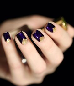 Golden Triangles and Purple Nail Art