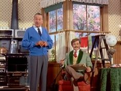 """Walt on the stage of the Carousel of Progress as it was being prepared for debut at the 1964 NY World's Fair, explaining """"audioanimatronics."""" From """"Disneyland Goes to the World's Fair"""" (49:55) (Originally aired on Disney's Wonderful World of Color show May 17, 1964)"""