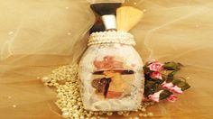 DIY Downton Abbey Inspired Glass Jar upcycle