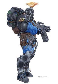 130k doomtrooper - Google zoeken Character Concept, Character Art, Character Design, Armor Concept, Concept Art, Mutant Chronicles, Savage, 70s Sci Fi Art, Sci Fi Armor