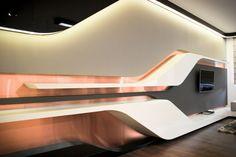 Architecture. Exceptional Futuristic House Design. Futuristic Home Interior  Design Alongside Futuristic Wooden Tv Wall