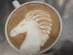 latte art horse