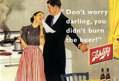 Schlitz Beer - image de la misogynie ordinaire dans la pub des années 50