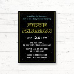 Items Similar To Star Wars Rehearsal Dinner Engagement Party Anniversary Printable Invitation Adult Custom Invite On Etsy