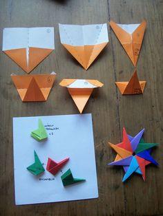 Origami revealed flower popup star crafts pinterest estrella otooby macar centenaro mightylinksfo