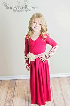 Girls Red Ray Of Sunshine Dress - Ryleigh Rue Clothing by MVB