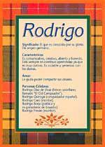Origen y significado de Rodrigo
