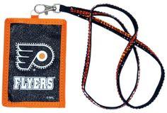 Philadelphia Flyers Beaded Lanyard Wallet
