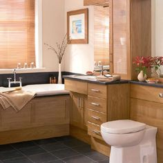Image result for natural oak bathroom furniture
