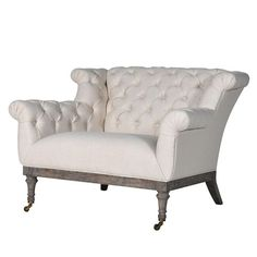 HICKS and HICKS Classic Button Back Love Seat