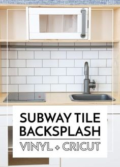 Ready to give your kitchen an easy, affordable, and temporary upgrade? Learn how easy it is to make a vinyl backsplash with your Cricut machine!
