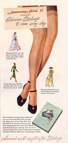 Vintage Advertisements, Vintage Ads, Vintage Photos, Vintage Stockings, Nylon Stockings, Old Anime, Nylons Heels, Beauty Guide, Colorful Party