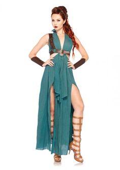 4Tl. Kostüm Set Krieger-Maid, grün*Kostüm*Neu*Karneval*Fasching*von Leg Avenue*   eBay