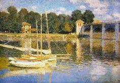 """""""Le Pont d'Argenteuil""""  Claude MONET 1874"""