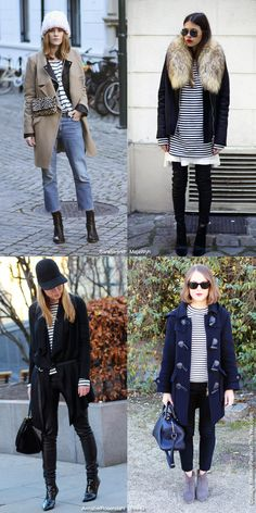 How to Wear: Winter Striped Top - Blue is in Fashion this Year