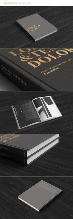 #Hardcover #Book #Mockup by #WebAndCat on Creative Market