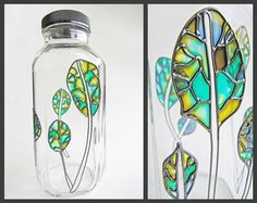 Eco Friendly Glass Bottle stained glass water by Hydrosphere